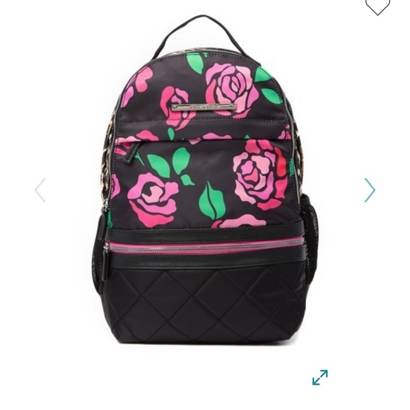 Betsey Johnson Handbags - Betsey Johnson mixed prints backpack and wristlet!